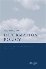 Cover for Journal of Information Policy