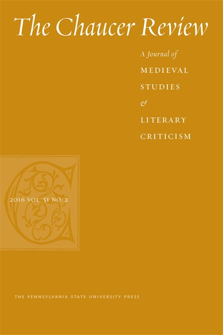 Cover image for The Chaucer Review: A Journal of Medieval Studies and Literary Criticism