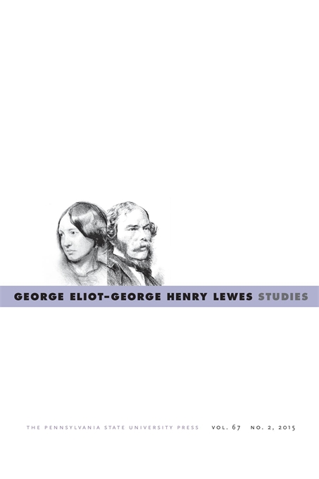 Cover image for George Eliot—George Henry Lewes Studies