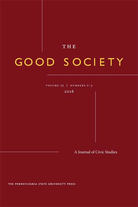 Cover image for The Good Society: A Journal of Civic Studies