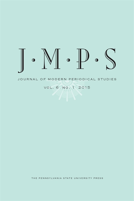 Cover image for Journal of Modern Periodical Studies