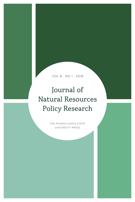 Cover image for Journal of Natural Resources Policy Research