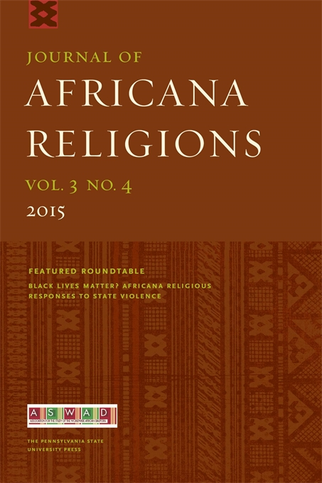 Cover image for Journal of Africana Religions