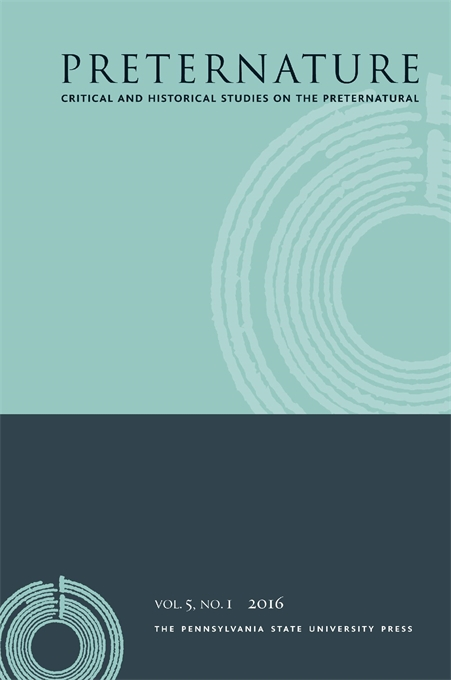 Cover image for Preternature: Critical and Historical Studies on the Preternatural