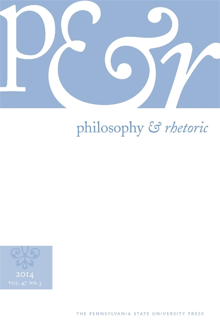 Cover image for Philosophy and Rhetoric