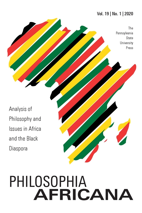 Cover image for Philosophia Africana: Analysis of Philosophy and Issues in Africa and the Black Diaspora