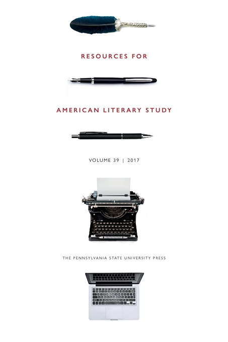 Cover image for Resources for American Literary Study