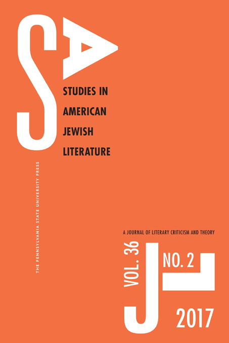 Cover image for Studies in American Jewish Literature