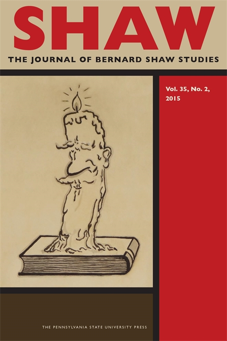 Cover image for SHAW: The Journal of Bernard Shaw Studies