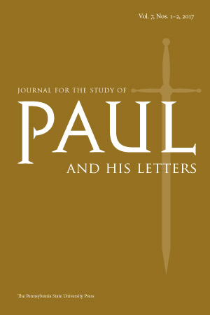Cover image for Journal for the Study of Paul and His Letters