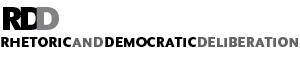 Logo for Rhetoric and Democratic Deliberation