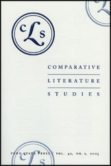 Comparative Literature Studies Journal Cover