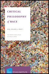 Critical Philosophy of Race Journal Cover