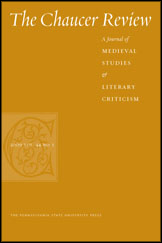 Cover for the journal Chaucer Review