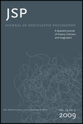 Journal of SPeculative Philosophy Cover