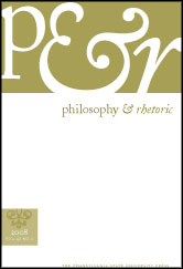 Philosophy and Rhetoric Journal Cover