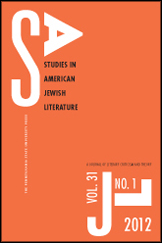 Studies in American Jewish Literature Cover