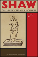 SHAW: The Journal of Bernard Shaw StudiesCover