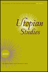 Utopian Studies Cover