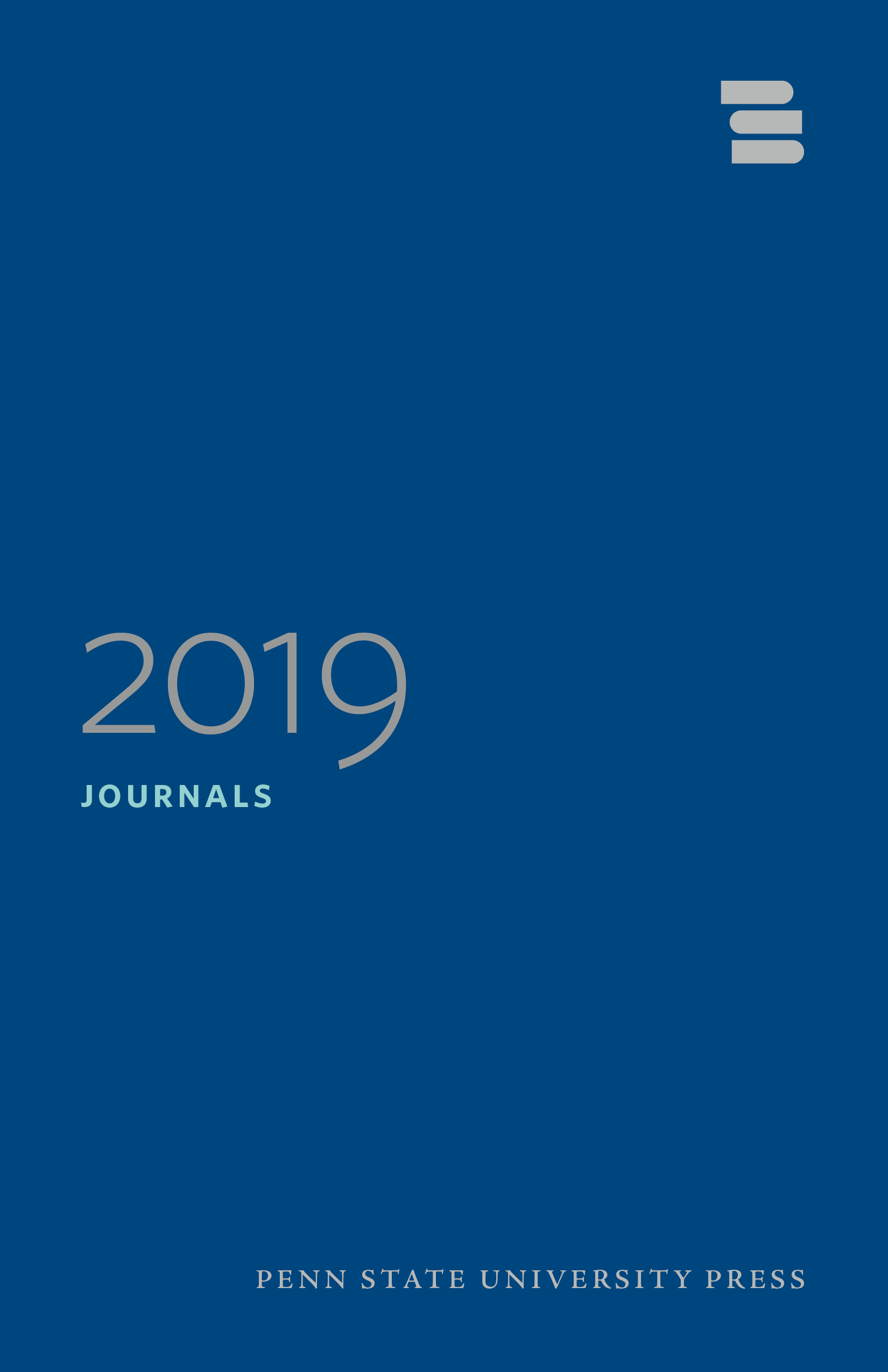 Cover for PSU Press Journals 2019