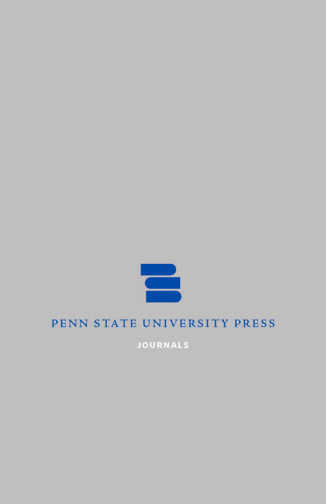 Cover for PSU Press Journals