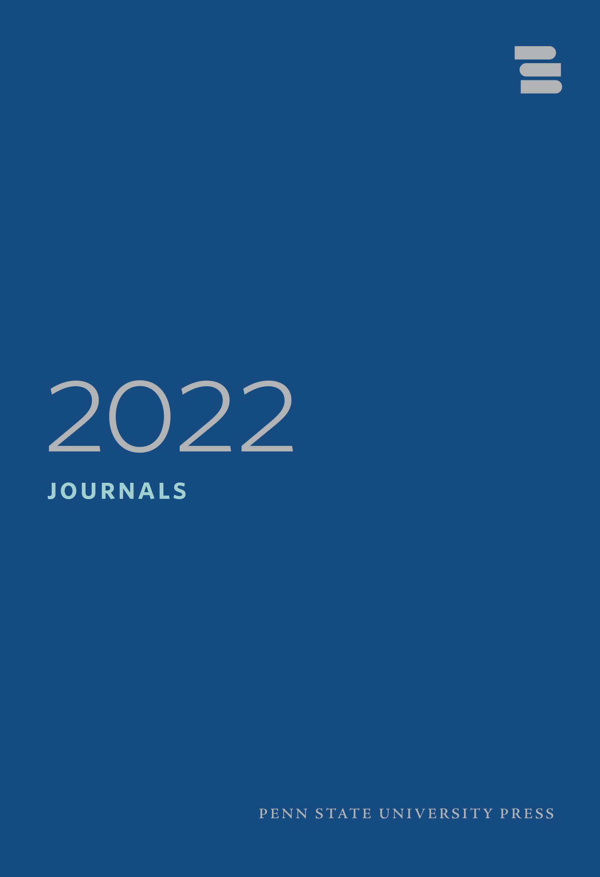 Cover for PSU Press Journals Catalog 2022