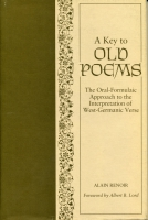 Cover for the book A Key to Old Poems