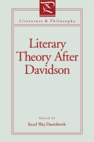 Cover for Literary Theory After Davidson