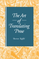 Cover for The Art of Translating Prose