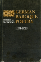 Cover for the book German Baroque Poetry, 1618–1723