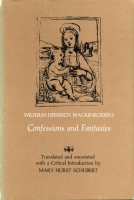 Cover image for Wilhelm Heinrich Wackenroder's Confessions and Fantasies By Mary Hurst Schubert