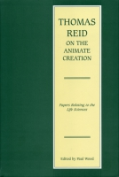 Cover for Thomas Reid on the Animate Creation