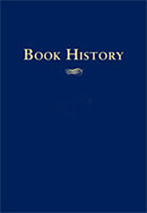 Cover image for Book History, vol. 6 Edited by Ezra Greenspan and Jonathan Rose
