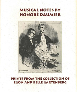 Cover image for Musical Notes by Honoré Daumier: Prints from the Collection of Egon and Belle Gartenberg By Joyce Henri Robinson