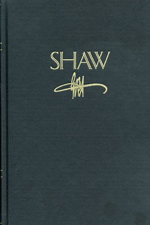 Cover image for SHAW: The Annual of Bernard Shaw Studies, vol. 26: Shaw at the Sesquicentennial Edited by MaryAnn K. Crawford and Heidi J. Holder