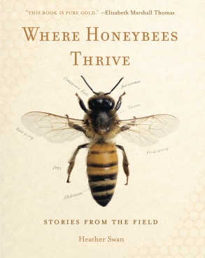 Cover image for Where Honeybees Thrive: Stories from the Field By Heather Swan