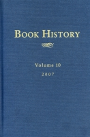 Cover for the book Book History, vol. 10