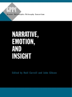 Book cover for Narrative, Emotion, and Insight: Edited by Nol Carroll and John Gibson