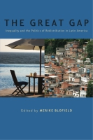 Cover image for The Great Gap: Inequality and the Politics of Redistribution in Latin America Edited by Merike Blofield
