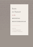 Cover for Texts in Transit in the Medieval Mediterranean