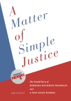 Cover for the book A Matter of Simple Justice