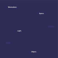 Cover image for Minimalism: Space, Light, and Object Edited by Eugene Tan and Russell Storer