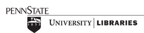 Logo for the Penn State University Libraries with link