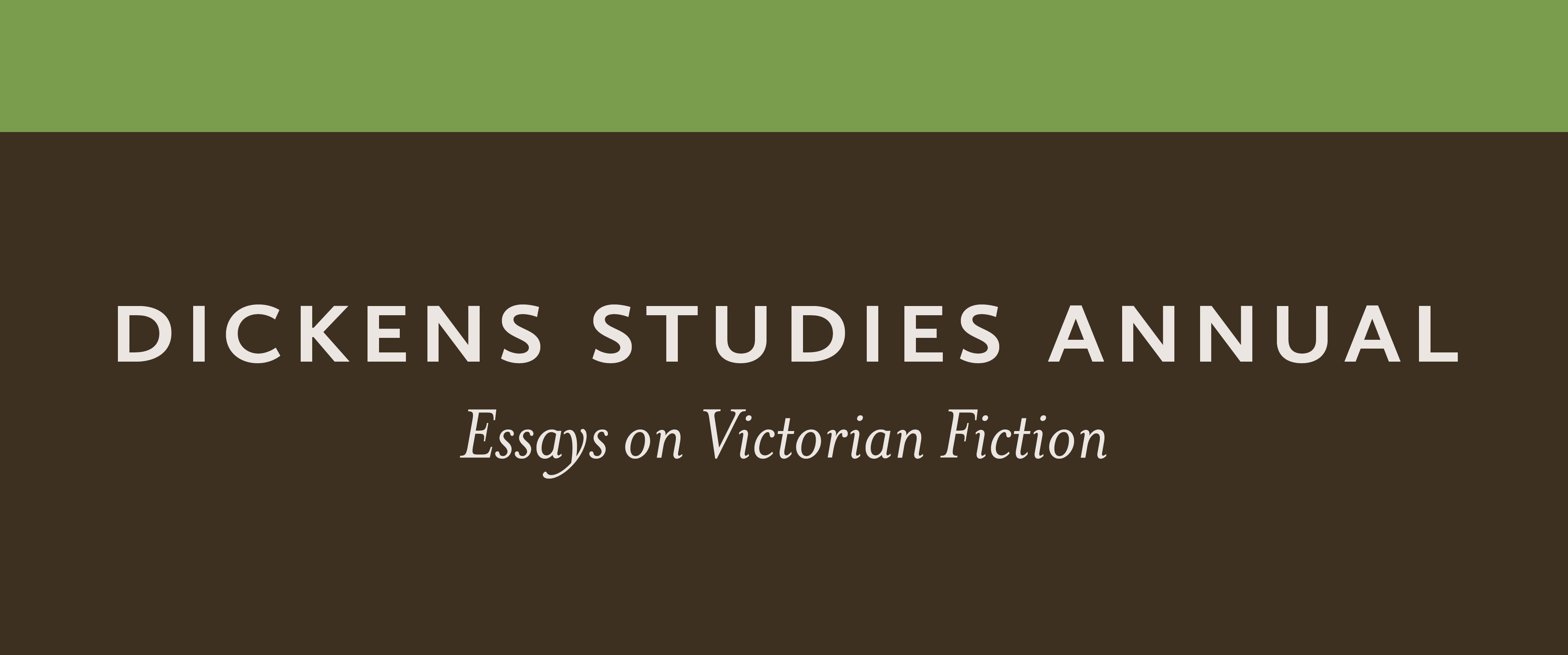 Dickens Study Annual