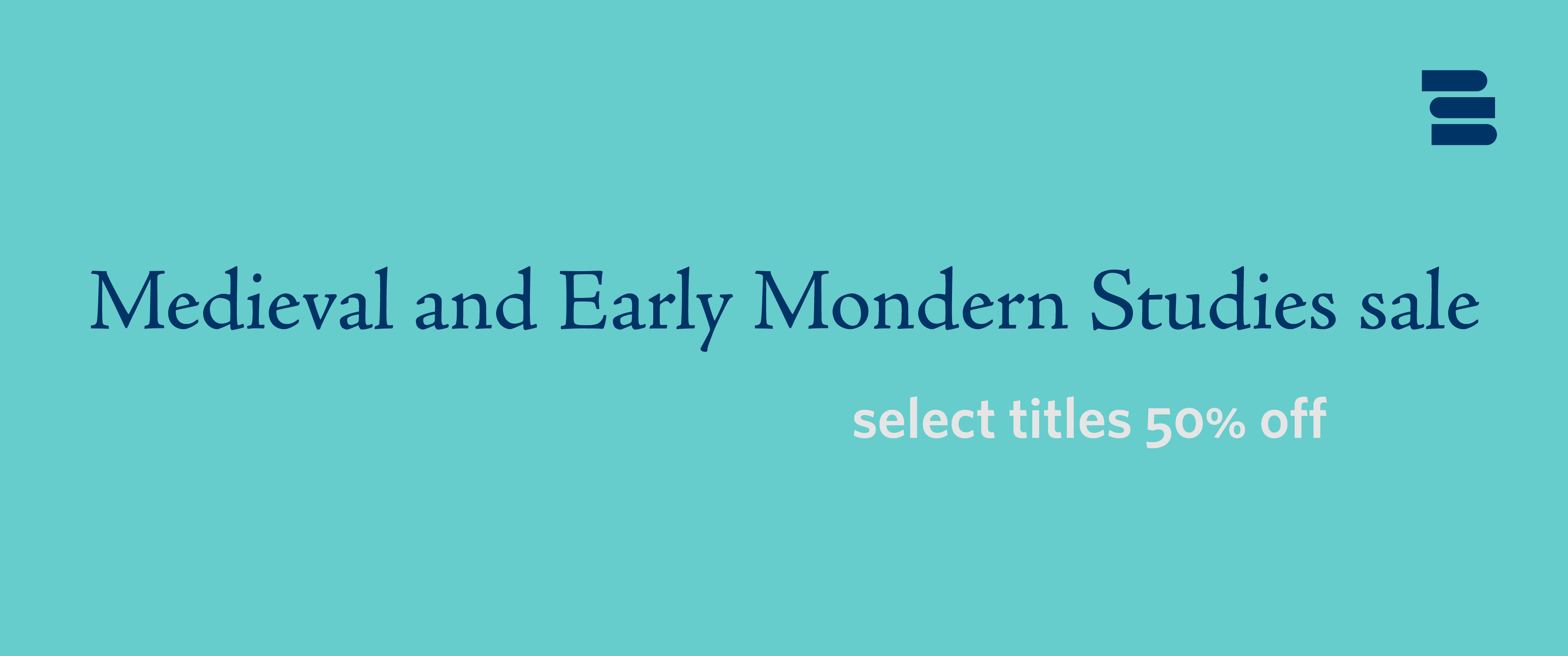 Medieval and Early Modern Studies sale banner