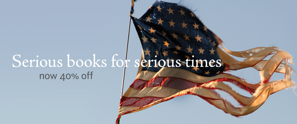 Banner ad for the Serious Books for Serious Times Sale