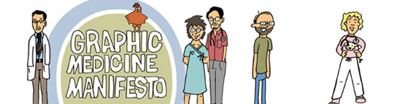 Banner ad for Graphic Medicine Manifesto